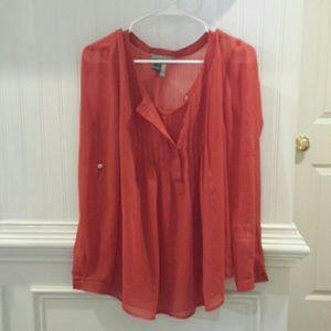 Orange Daniel Rain Women's Blouse Size Medium